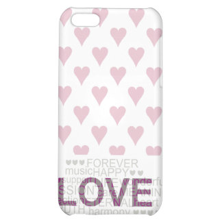 LOVE AND HEARTS COVER FOR iPhone 5C