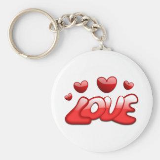Love and Hearts Key Chain