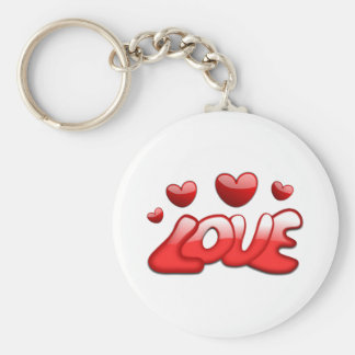 Love and Hearts Keychain