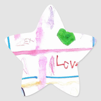 Love and Hearts Star Sticker