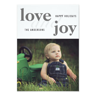 Love And Joy | Happy Holidays | Photo Card