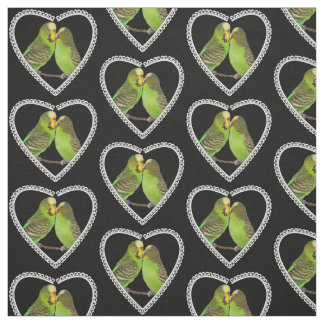Love and Kisses Fabric (Black)