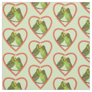 Love and Kisses Fabric (Light Green)