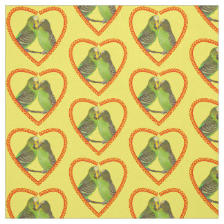 Love and Kisses Fabric (Yellow)