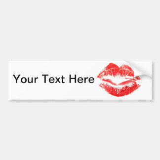 Love and Kisses - Smooth Car Bumper Sticker