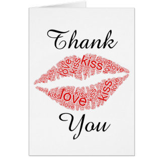 Love and Kisses Thank You Card