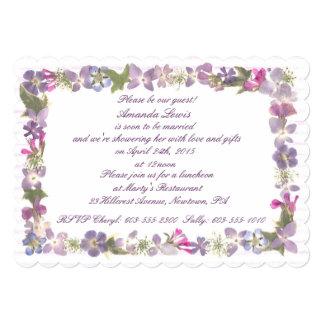 Love and lavender 13 cm x 18 cm invitation card