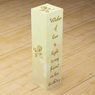 Love and Light birthday friend Wine Bottle Box