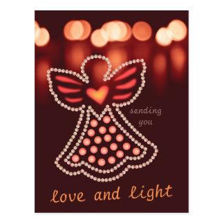 Love and light Compassionate angel CC0125 Postcard
