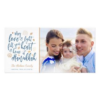 Love and Light Hanukkah Photocard Card