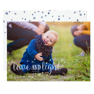 Love and Light Stars Holiday Photo Card
