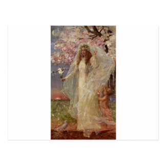 Love and marriage by Alfred Stevens Postcard