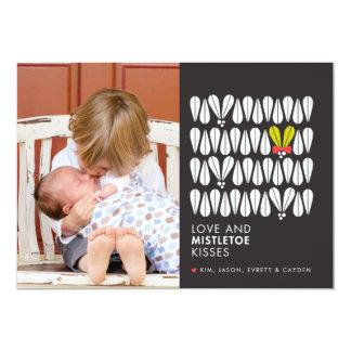 Love and Mistletoe Kisses 13 Cm X 18 Cm Invitation Card