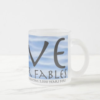 LOVE AND OTHER FABLES Water Frosted Glass Coffee Mug