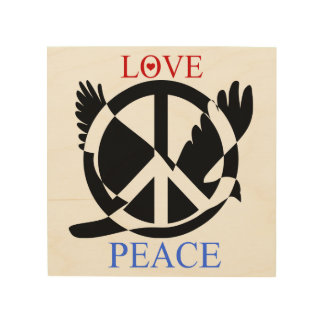 Love And Peace 2 Wood Canvas