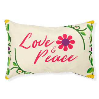 Love and Peace Custom Indoor Dog bed