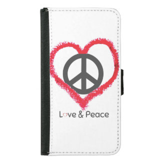 Love and Peace Galaxy S5 Wallet Case