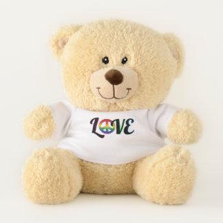Love and Peace Hippy Love Teddy Bear