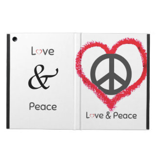 Love and Peace iPad Air Case with No Kickstand