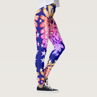 Love and Peace, retro style original Leggings