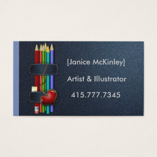 Love and Pencils Business Card