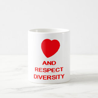 LOVE AND RESPECT DIVEWERSITY Class 11 oz White Mug
