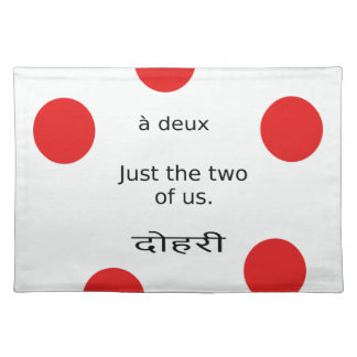 Love And Romance: Just the two of us. Placemat