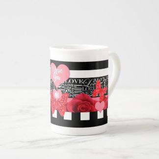 Love and Roses Blackboard Style Mug