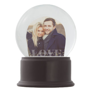 Love and Sparkles Photo Snow Globe