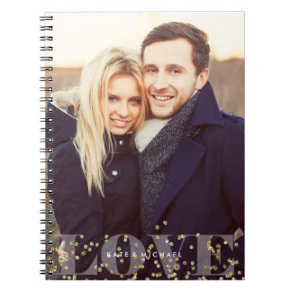 Love and Sparkles Photo Spiral Notebook