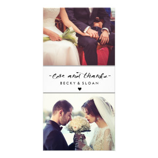 Love and Thanks Photo Cards \ WEDDINGS