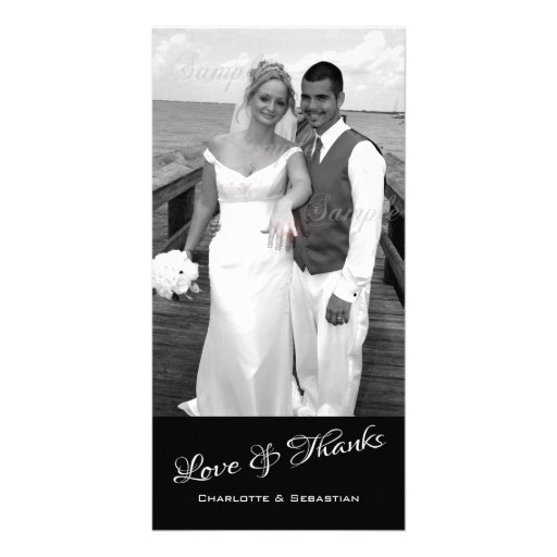Love And Thanks Photo Template Personalized Customized Photo Card