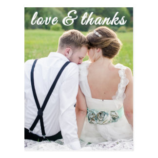 LOVE AND THANKS POSTCARD