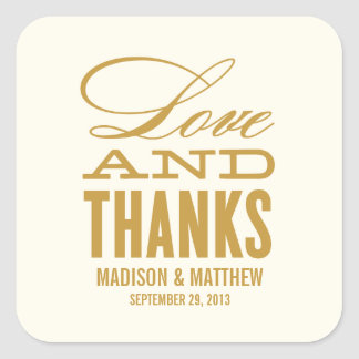 LOVE AND THANKS | WEDDING FAVOR LABELS