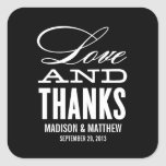 LOVE AND THANKS | WEDDING FAVOR LABELS STICKERS