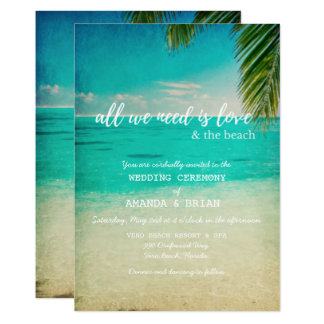 Love and the Beach Wedding Invitation