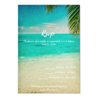 Love and the Beach Wedding RSVP Card 9 Cm X 13 Cm Invitation Card