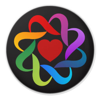 Love and Unity Design Ceramic Knob
