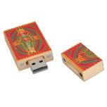 Love and Wealth to You Wood USB 2.0 Flash Drive