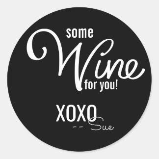 Love and Wine Custom Gift Seals