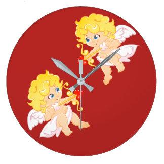 Love Angel Large Clock