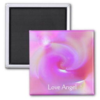 Love Angel Square Magnet