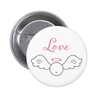 Love Angel Round Button