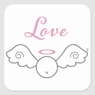 Love Angel Square Stickers
