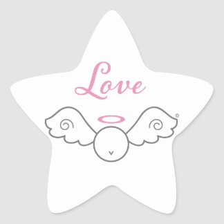 Love Angel Star Sticker