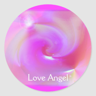 Love Angel Round Sticker
