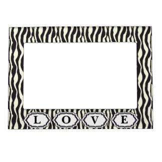 Love Animal Zebra Print Magnetic Frame