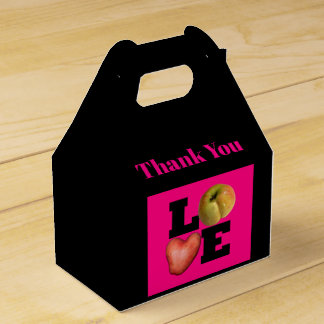 LOVE Apple Heart Potato Thank You Favor box