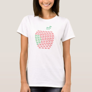 Love Apple Women's Basic T-Shirt , White T-Shirt