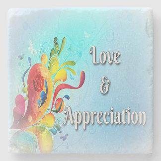 Love & Appreciation Power Words on Marble Coaster Stone Coaster